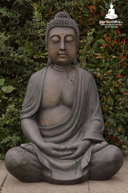 sitzende buddha figur f garten terrasse 1m my buddha ch by akasha gmbh. Black Bedroom Furniture Sets. Home Design Ideas