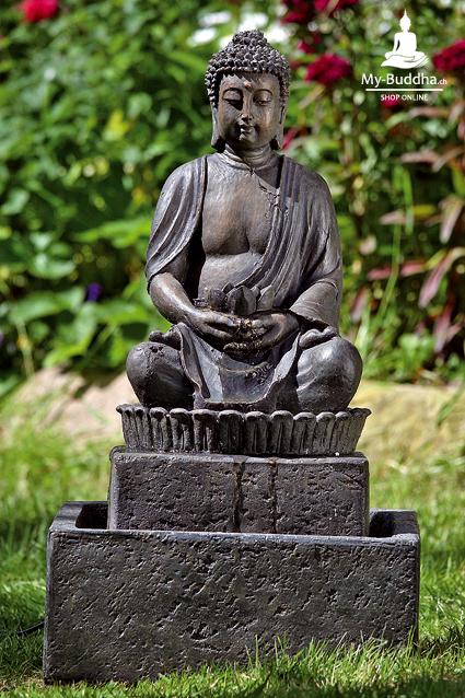 buddha brunnen f r garten terrasse 65cm my buddha ch by akasha gmbh. Black Bedroom Furniture Sets. Home Design Ideas