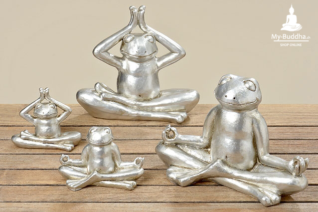 2er set yoga frosch 9 cm my buddha ch by akasha gmbh for Buddha figuren deko