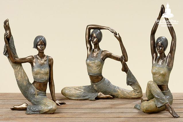Yoga Übungen Bringen Entspannung, Erholung, Ruhe Und Kraft.   Dies  Symbolisiert Eine Yogafigur. Die Passende Deko Für Zuhause, Praxis Oder  Meditationsraum.